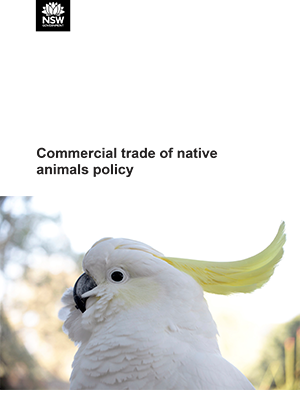 Commercial trade of native animals policy