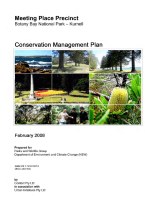 Botany Bay National Park - Kurnell - Meeting Place Precinct Conservation Management Plan cover