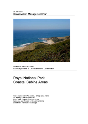 Royal National Park Coastal Cabins Areas Conservation Management Plan cover