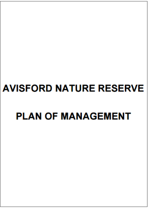 Avisford Nature Reserve plan of management cover