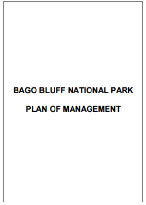 Bago Bluff National Park Plan of Management