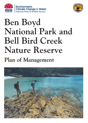 Ben Boyd National Park and Bell Bird Creek Reserve Plan of Management cover