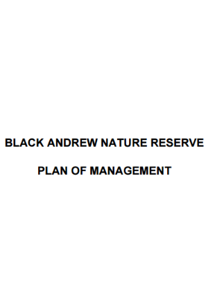 Black Andrew Nature Reserve Plan of Management
