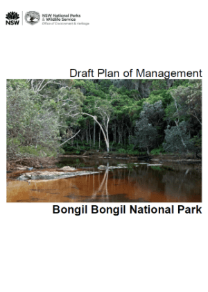 Bongil Bongil National Park draft plan of management cover