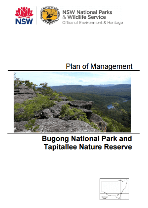 Bugong National Park and Tapitallee Nature Reserve Plan of Management cover