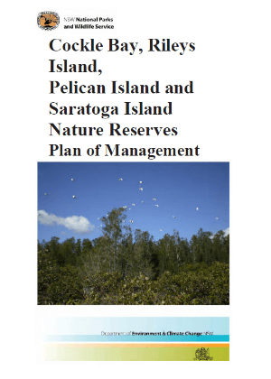 Cockle Bay, Rileys Island, Pelican Island and Saratoga Island Nature Reserves Plan of Management