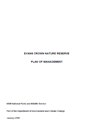 Evans Crown Nature Reserve Plan of Management cover
