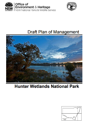 Hunter Wetlands National Park Draft Plan of Management cover