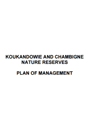 Koukandowie and Chambigne Nature Reserves Plan of Management