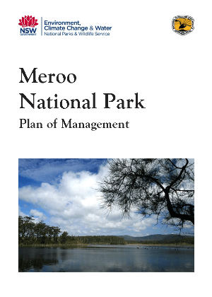 Meroo National Park Plan of Management cover