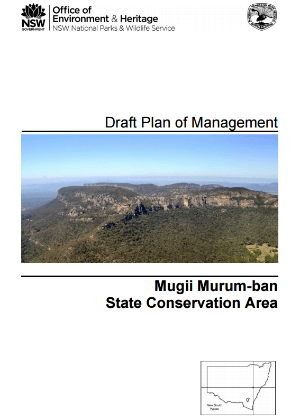 Mugii Murum-ban State Conservation Area Draft Plan of Management cover