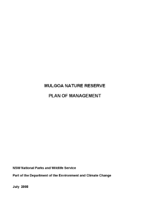 Mulgoa Nature Reserve Plan of Management