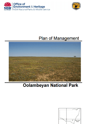 Oolambeyan National Park Plan of Management cover