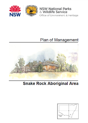 Snake Rock Aboriginal Area Plan of Management cover