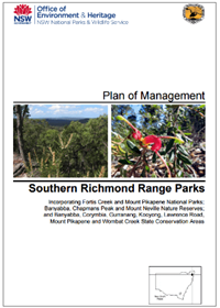Southern Richmond Range Parks Plan of Management cover