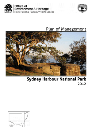 Sydney Harbour National Park Plan of Management cover