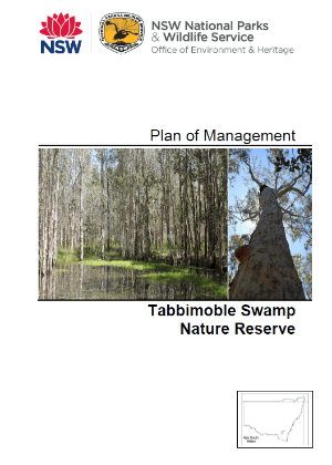 Tabbimoble Swamp Nature Reserve Plan of Management cover