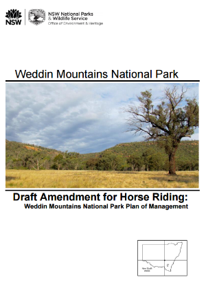 Weddin Mountains National Park Plan of Management: Draft Amendment for Horse Riding Weddin Mountains National Park Plan of Management cover