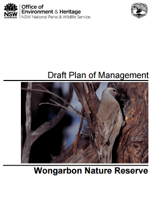 Wongarbon Nature Reserve Draft Plan of Management cover