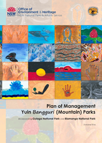 Yuin Bangguri (Mountain) Parks plan of management cover