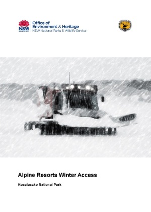 Alpine Resorts Winter Access Kosciuszko National Park cover