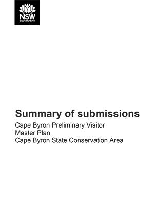 Cape Byron Preliminary Visitor Master Plan summary of submissions