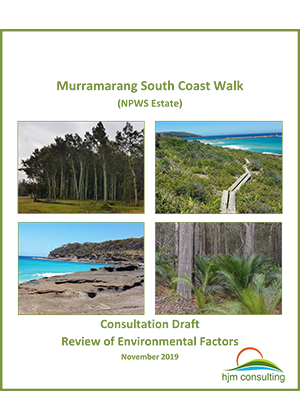 Murramarang South Coast Walk draft review of environmental factors