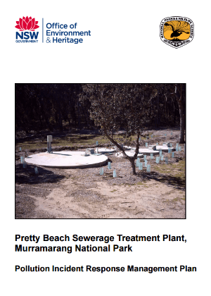 Pretty Beach Sewerage Treatment Plant, Murramarang National Park, Pollution Incident Response Management Plan