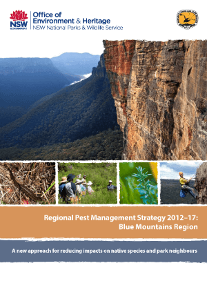Regional Pest Management Strategy 2012-2017 Blue Mountains Region cover