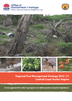 Regional Pest Management Strategy 2012-2017 Central Coast Hunter Region cover