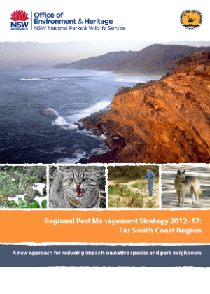 Regional Pest Management Strategy 2012-2017 Far South Coast Region cover