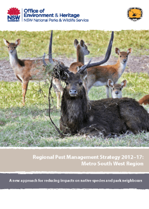 Regional Pest Management Strategy 2012-2017 Metro South West Region cover