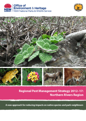 Regional Pest Management Strategy 2012-2017 Northern Rivers Region cover