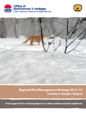 Regional Pest Management Strategy 2012-2017 Southern Ranges Region cover