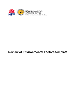 Review of Environmental Factors template