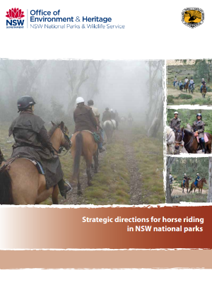 Strategic directions for horse riding in NSW national parks publication cover