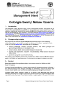 Colongra Swamp Nature Reserve Statement of Management Intent cover