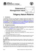 Tilligerry Nature Reserve Statement of Management Intent cover