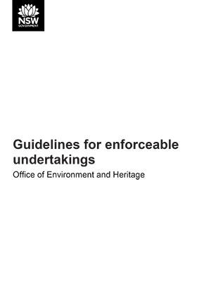 Guidelines for enforceable undertakings