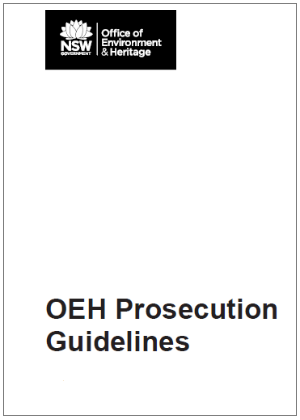 OEH Prosecution Guidelines cover