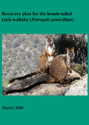 Recovery plan for the brush-tailed rock-wallaby (Petrogale penicillata) cover.