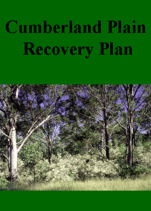 Cumberland Plain Recovery Plan cover.