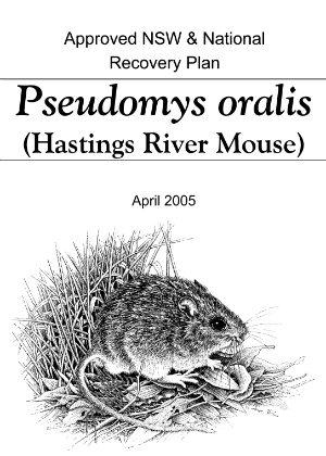 Approved NSW & National Recovery Plan Pseudomys oralis (Hastings River Mouse) cover.
