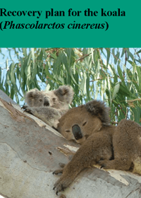 Recovery plan for the koala (Phascolarctos cinereus) cover.
