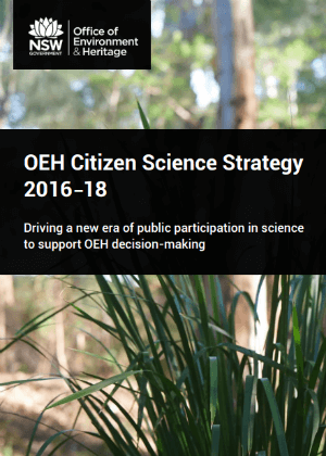 OEH Citizen Science Strategy 2016-18 cover