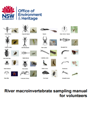 River macroinvertebrate sampling manual for volunteers cover