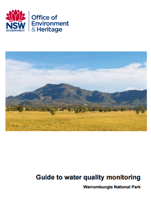 Guide to water quality monitoring: Warrumbungle National Park cover