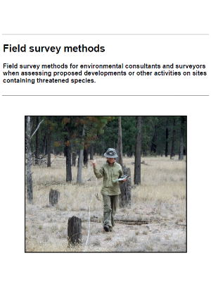 Field survey methods guidelines