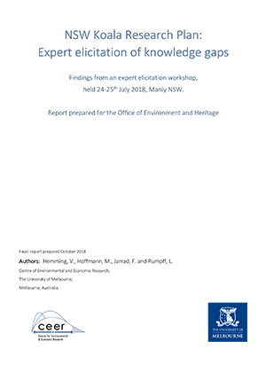 NSW Koala Research Plan Expert elicitation of knowledge gaps
