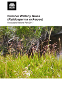 Cover of Perisher Wallaby Grass survey